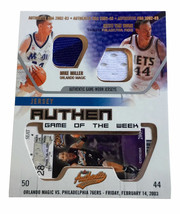2002-03 Fleer Authentix Jersey Authentix Game of the Week Ripped #14 Van... - $7.69