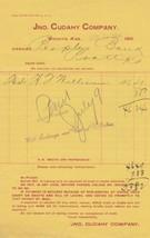 U.S. Jno. Cudahy Company. Wichita Kans June 1904  Paid Invoice Ref 42522 - $7.55