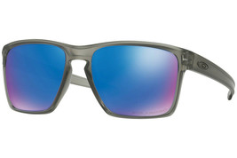 Oakley Sunglass Sliver XL Matte Grey Ink w/Sapphire Iridium Polarized OO9341-03 - $104.81