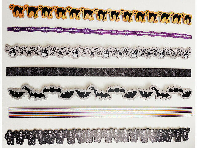 Michael's Halloween Border Chipboard Set, Perfect for Scrapbook Layouts! S