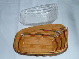 Longaberger 1998 Small Sleigh Basket Combo Protector Liner Wrought Iron Runner image 9