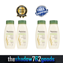 Aveeno Active Naturals Daily Moisturizing Oatmeal Body Wash 18 oz 4-PC F... - $39.87