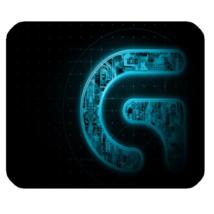 Mouse Pad Logitech Gaming Logo In Beautiful Elegant Blue Design Game Animation - $9.00
