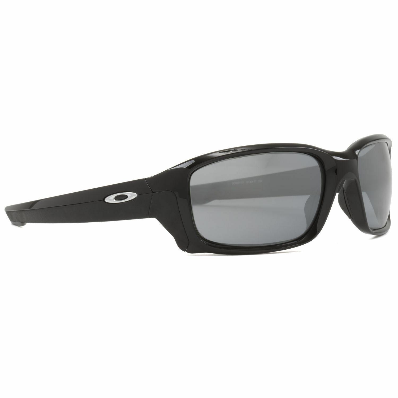 Oakley Straightlink OO9331 01 Sunglasses Polished Black / Black Iridium