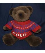 "Ralph Lauren ""Polo Sweater"" Stuffed Plush Brown Teddy Bear 2000 - $15.00"