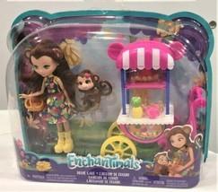 Enchantimals  Fruit Cart & Merit Monkey Doll Set w/ Compass Monkey - $19.79