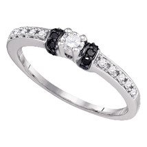 10k White Gold Round Diamond Solitaire Bridal Wedding Engagement Ring 1/... - £243.55 GBP
