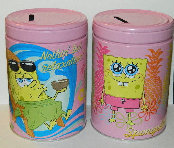 SpongeBob SquarePants Carry All Workman/'s Tin Tote Lunchbox Style A NEW