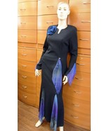 PARTY SKIRT SET COCKTAIL SET MADE IN EUROPE JERSEY LONG SLEEVE LONG SKIR... - $295.00