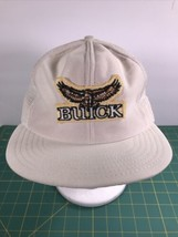 VTG 1980s Buick Gold Logo Snapback Trucker Hat USA White 80s Vintage - $19.18