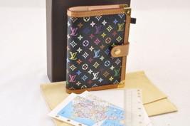Louis Vuitton Multicolor Agenda Pm Day Planner Cover Black R20895 Lv Auth 7332 - $320.00