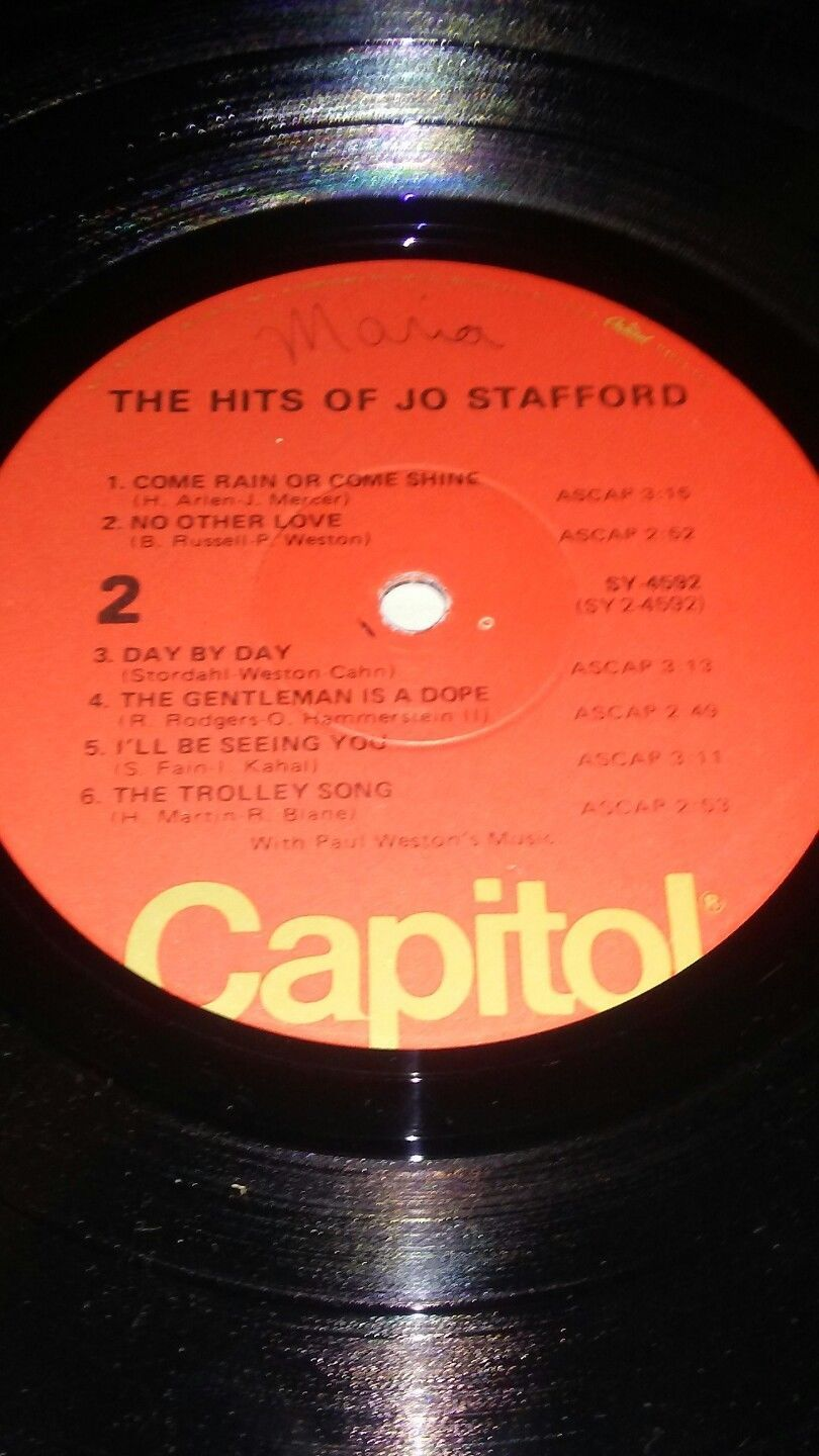 *RARE HARD TO FIND*The Hits Of Jo Stafford ~Special Re-Issue Vinyl Record