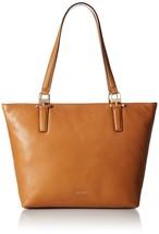 Slouchy Pebble Shoulder Bags Tote, Light Cognac, Calvin Klein Rudy Medium 018 - $134.40