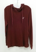 Vans Sz Large Burgundy Long Sleeve Thermal Cotton Hooded Shirt Men Women... - $19.99