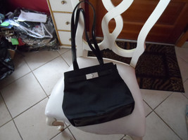 Black satin look handbag by Nine West - $10.00