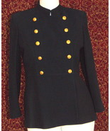 RALPH LAUREN Navy double breasted military band style jacket 12P (TC1-04... - $128.68