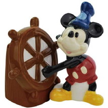 Mickey Mouse as Steamboat Willie Ceramic Salt and Pepper Shakers Set NEW... - $27.08