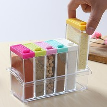 Seasoning Box Kitchen Tool Set Colorful Transparent Lid Spices Seasoning... - $19.99