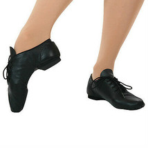 Leo's 7058 Child Size 11M (Fits Toddler 9) Black Full Sole Lace Up Jazz ... - $19.79