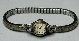 Vintage Benrus 10K Rgp Wite Gold Ladies Watch Runs 17 Jewels Model BM1 Swiss - $108.90