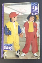 Butterick See & Sew Pattern 3134 XS - L Children's Jacket and Pants Uncu... - $14.84