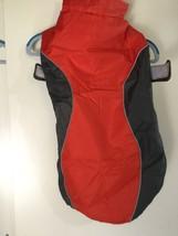 XXXL Large Dog Raincoat Red Gray Hook Loop Jacket Outdoor Waterproof Pol... - $19.39