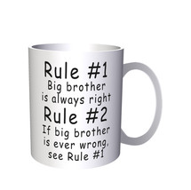Brand New Mug 11oz Rule 1 Big Brother Is Always Right Rule 2 + Free Gift... - $10.83