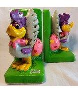 Vtg Looney Tunes Road Runner Book Ends Japan Warner Bros Green 1970 Holi... - $29.68