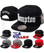 BOMPTON Baseball Cap Snapback Hat Compton YG Hip Hop Embroidered Flat Br... - $11.95