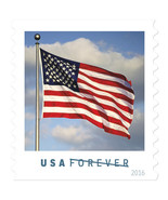 2016 49c American Flag, Spirit of Our Nation, Coil Scott 5053 Mint F/VF NH - €1,37 EUR