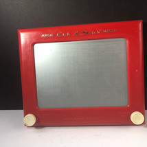 VINTAGE ETCH A SKETCH 505 MAGIC SCREEN WORLD FAMOUS OHIO ART BRYAN RED T... - $39.55