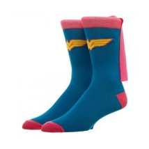 Wonder Woman Caped Socks Blue - $11.98