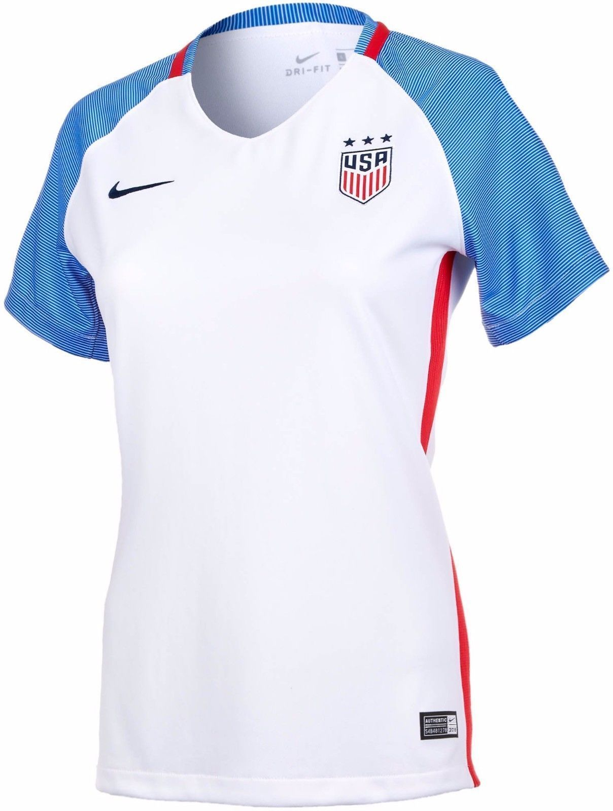18a68aeef S l1600. S l1600. Previous.  90 NEW 2016 Nike USA United States Womens XL  Home Soccer White Jersey