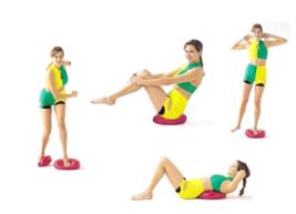 Wobble Cushion Balance Fitness Board 35cm Fun for Fitness, Yoga Equipmen... - £21.13 GBP