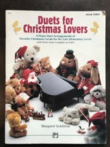 Duets For Christmas Lovers Piano Carols Book 3 Sheet Music Late Elementa... - $10.25