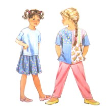 Simplicity Sewing Pattern 8234 Girls Easy Pullover Top Shirt Skirt Pants... - $6.95