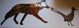 Coyote Chasin Arizona Roadrunner Metal Art Wall Decor Set - $45.53