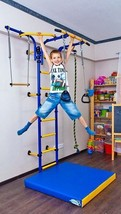 Kids Playground Set, Sport Training Gym Playset with Trapeze Bar, Rings,... - $410.84