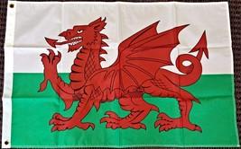 2x3 Wales Flag Welsh Dragon Banner Cymru Pennant UK United Kingdom New P... - $14.21