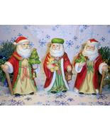 Homco Santas figurines Home Interiors 5610 Set ... - $19.95
