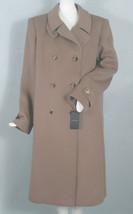NEW $5975 Giorgio Armani Pure Cashmere Overcoat! 12 e 46 *Gorgeous Taupe* - $2,799.99