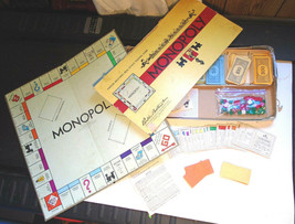 Vintage 1954 Monopoly Old Board Game Parker Brothers - Missing some wood... - $19.99