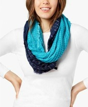 INC International Concepts Ombré Waffle Loop Scarf Wrap, Blue Turquoise - $14.85