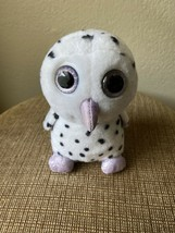 Owl Frost Plush Stuffed Animal Russ Berrie White Spotted Snow Purple Spa... - $14.75