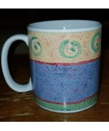 Sakura MALAGA MUG Stoneware By Sue Zipkin Colorful Abstract Design  - $11.95