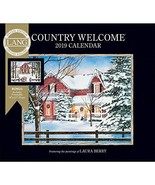 2019 Country Welcome Special Edition 2019 Wall Calendar, Lang Folk Art b... - $6.93