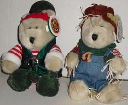 "STARBUCKS Plush Bearista Bear lot of 2: 17th Elf & 16th Scarecrow 10"", w/ tags - $29.99"