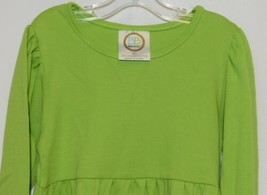 Blanks Boutique Long Sleeve Empire Waist Lime Ruffle Dress Size 5T image 2