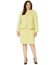 Tahari by ASL Plus Size Double Peplum Jacket and Skirt Set - $210.36
