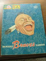 1961 Milwaukee Braves Yearbook, magazine, baseball, old - $52.25